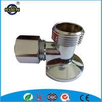 16*1/2mm wall mounted brass 90 degree pipe fitting elbow