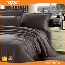 wholesale cotton grey sateen hotel linen cheap flat bed sheets