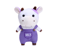 Wholesale cute soft standing plush stuffed cow toy