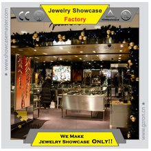 304# stainless steel jewelry display showcase for jewelry shop interior design in Christmas Day