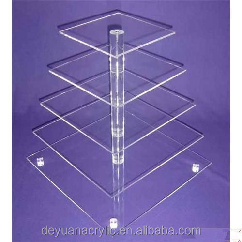 Best Prices!!! Custom Made 5 tier cake stand with acrylic tube center from factory
