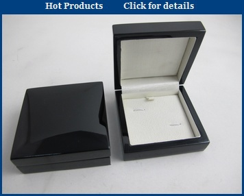 Popular black paper cufflink packing box,Traditional smaller cuff-link case accept custom wholesale