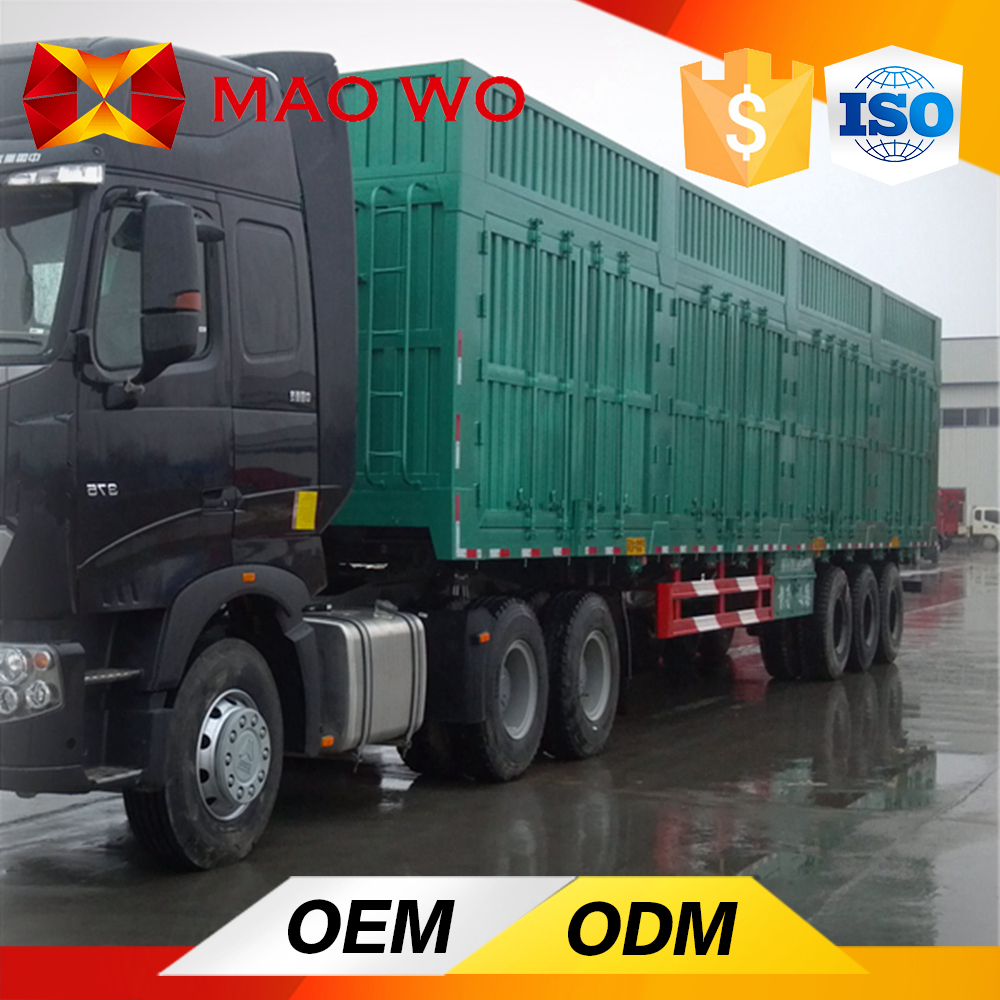 3 axle 40ton high quality dry van semi trailer for sale