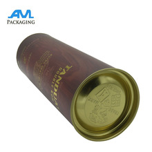 metal lids wholesale bespoke luxury Paper gift packaging tube for wine mailing shipping