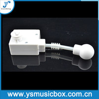 Yunsheng musical movement with waggle shaft for baby toy music box mechanism