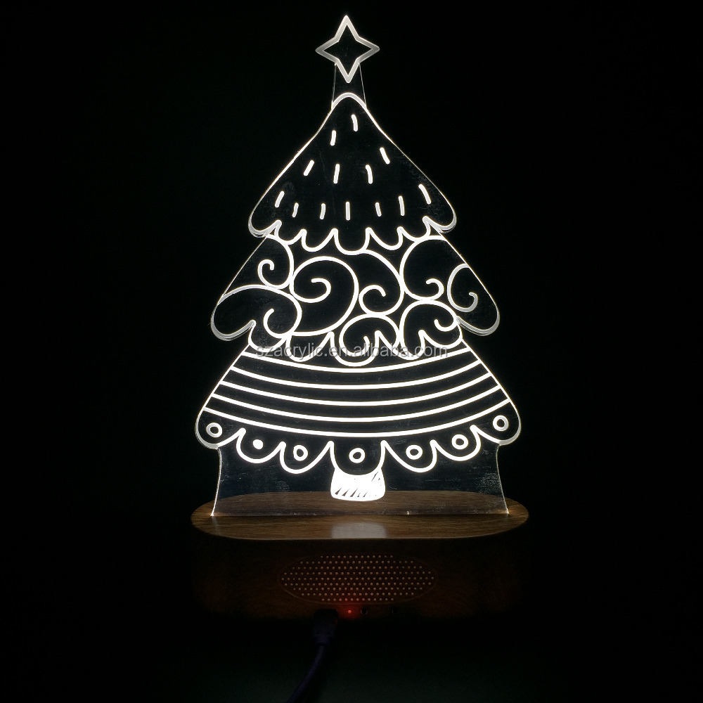 2016 Fashion Christmas gift 3D Christmas Tree LED Desk Table Light Lamp rechargeable led table lamps