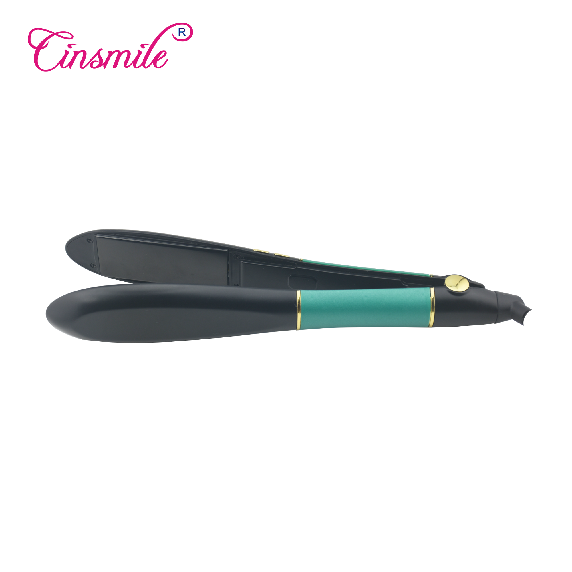 New Products 2018 Ceramic Personalized Flat Iron Hair Straightener Tourmaline Infrared Ionic Hair Flat Iron with Comb