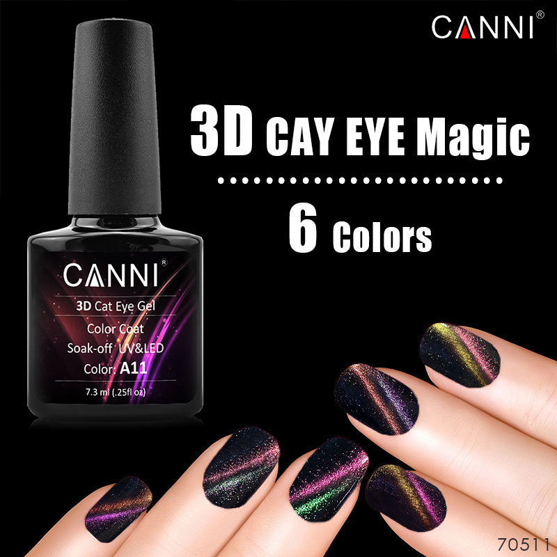 30917 W CANNI UV Gel Nails 7.3 ml Soak Off Gel UV LED Nail Polish Private Label Alto Profitto Cina Fornitura Polacco UV Del Gel