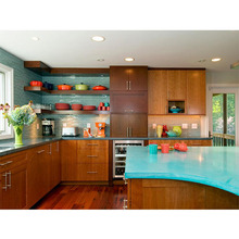 Awesome modern open new design fiber kitchen cabinet made in China