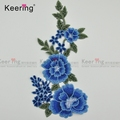 Flower Applique Embroidery Patches Lace Fabric Motif for chi-pao