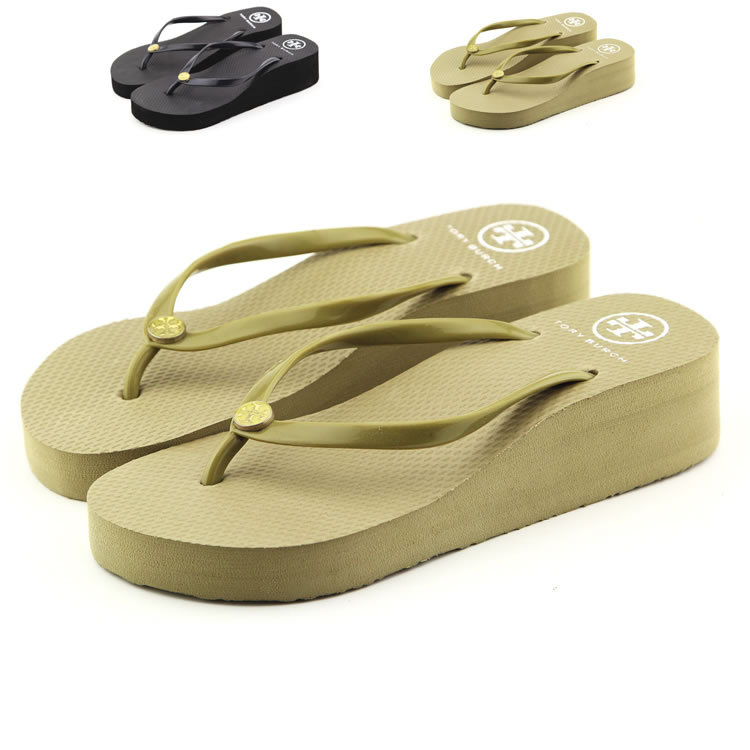 New Luxury brand  women's beach sandals shoes Wedge platform beach solid flip flops slip resistant EVA sole slippers size 35-40