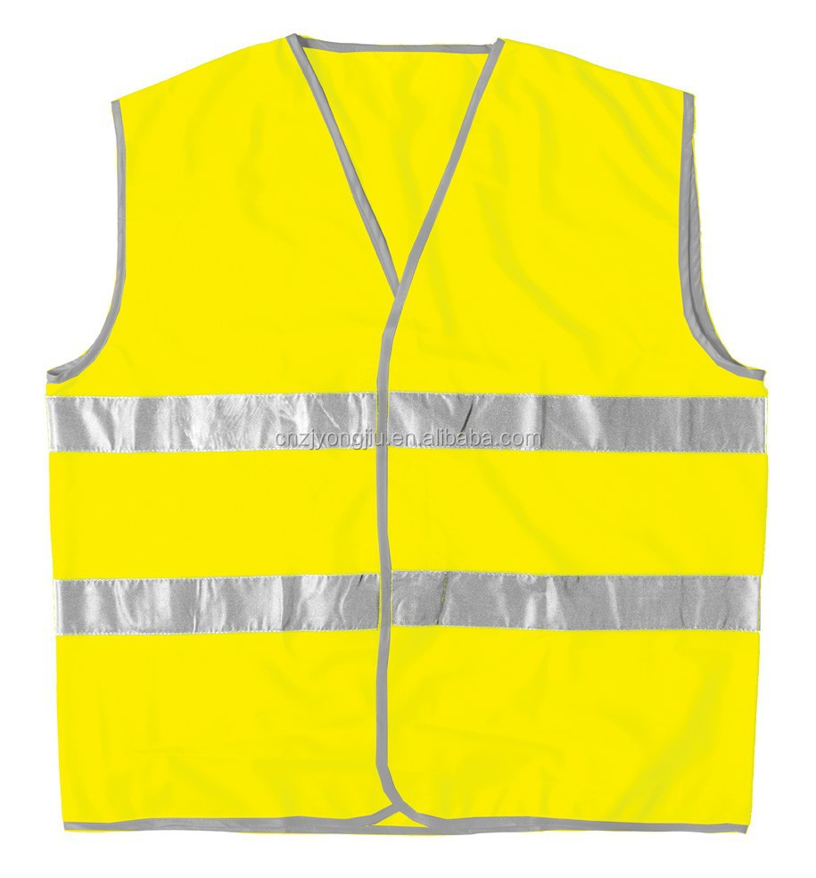 new style road work wholesales standardized knitted fabric safety vest with reflective tape and EN 20471 certificate
