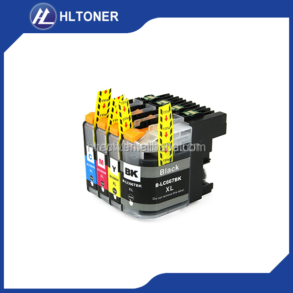 Inkjet dye ink cartridge LC669XL LC665XL compatible for brother MFC-J2320/J2720 printer