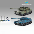 180 degree rotation lights sound battle remote control tank with 2PCS