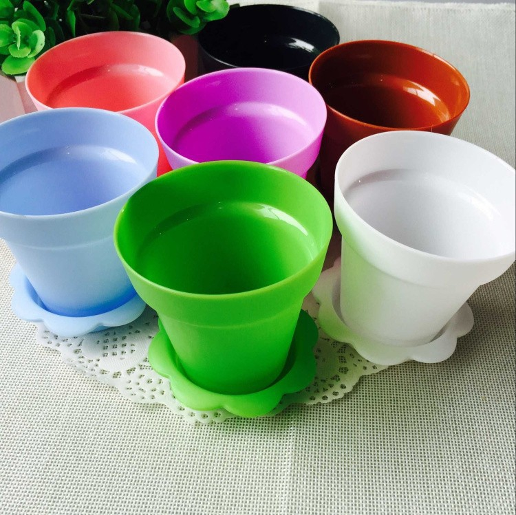 Flower Pot Cake Cups Spoon Set Ice Cream decoration for Wedding Kids Birthday Party Supplies Baking Pastry Tools