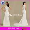 Custom Made High Quality Delicated Lace Appliqued Sleeveless Wedding Dress