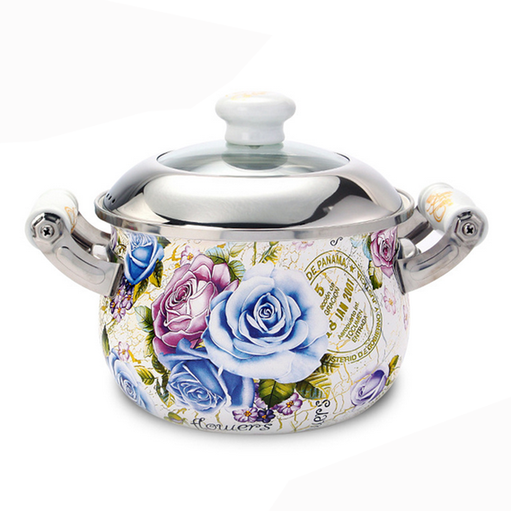 Porcelain energy-saving cooking soup pot