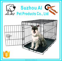 Pet Folding Metal Crate Double Door and Divider Dog Kennel