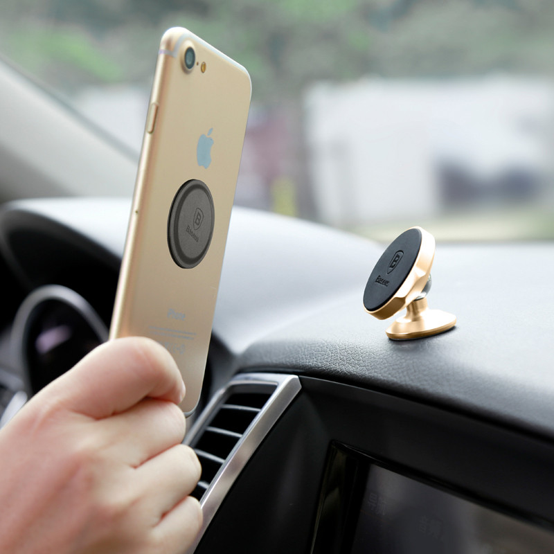 Baseus Small Ears Serie Magnetic Car Phone Holder Vertical Stype Rotatable Universal Mobile Phone Holder Dashboard Mount Stand