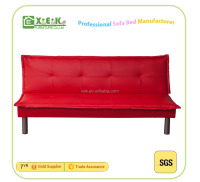 2016 three seats red wooden furniture designs sofa bed