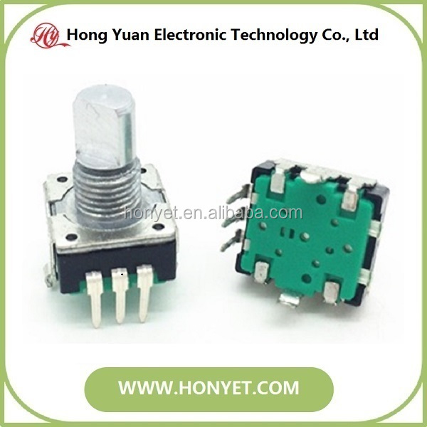 12mm metal shaft rotary encoder with push switch