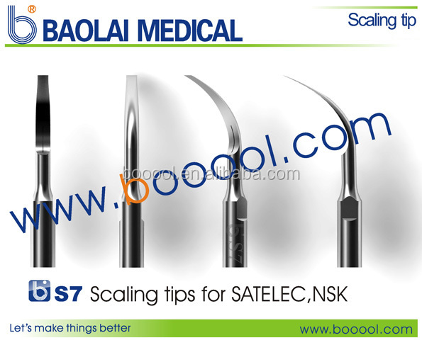 Baolai S7 Dental Scaling Tips Compatible with Satelec dental hand tools