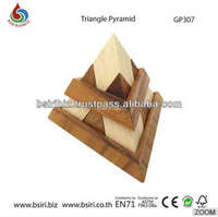 Wooden Puzzle Triangle Pyramid