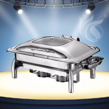 Stainless Steel Restaurant Chafing Dish, Electric Food Warmer,Buffet Heater, Food Tray
