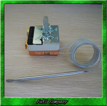 Capillary type thermostat for dryer, bottle cooler, cylinder washer, frying pan, electric oven