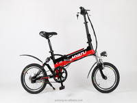 16'' alloy mini folding electric bike/bycicles with best quality
