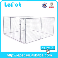 cheap large chain link box kennel for dogs big size