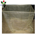 Custom nylon pp plastic firewood drawstring mesh bag for wood packing for sale