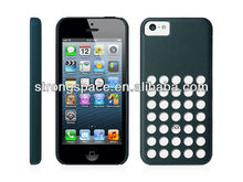Hard original style polka dot hole color case for iphone 5c with various colors by China supplier