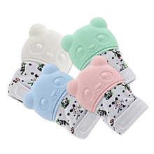 Food Grade Silicone Newborn Baby Teething Mitten Glove for baby teething