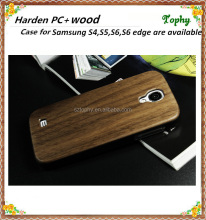 Wholesale Wood+PC Hard Wooden Phone Case for Samsung Galaxy S4 i9505/i545, Durable Hybrid PU+Wood Case for Galaxy S4
