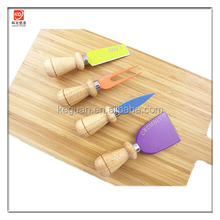 CK-020 wholesale wooden handle non stick coating stainless steel cheese knife