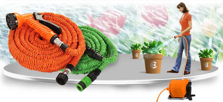 Newest INNOVATION Coild Flexible Collapsible Garden Water Hose Reel,  Agriculture Lay Flat Hose Pipe