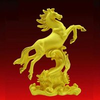 horse shape metal craft, 24k gold craft art