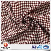 Yarn dyed red and white beautiful dobby star pattern fabric for fashion dress
