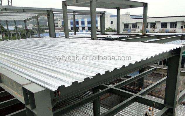 High quality Prefabricated galvanized firm floor steel decking