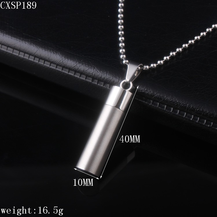 Stainless Steel Perfume Bottle Pendant