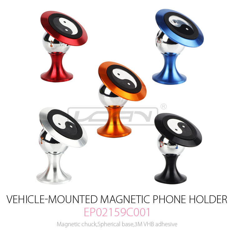 Universal rotating portable mini air vent magnetic mobile cell phone stand mount car holder for