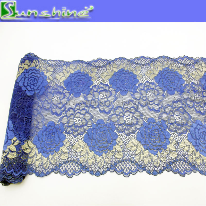 Custom two tones of fashion lace trim in stock available