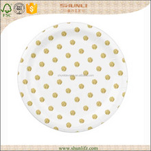 Baby candy color plastic disposable christmas paper plates