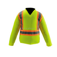Promotional safety hi vis long sleeves t-shirt with reflective tape