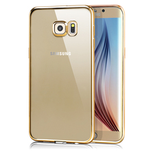 Hot selling transparent tpu cover for samsung galaxy s6 edge tpu cover case