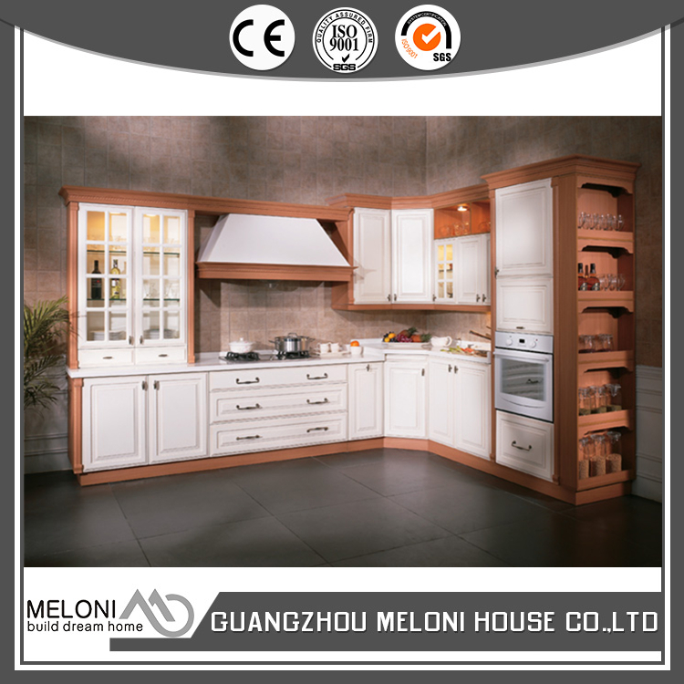 white pvc kitchen cabinet box with particle board