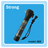 high quality USB charging led solar rechargeable flashlight with safety hammer