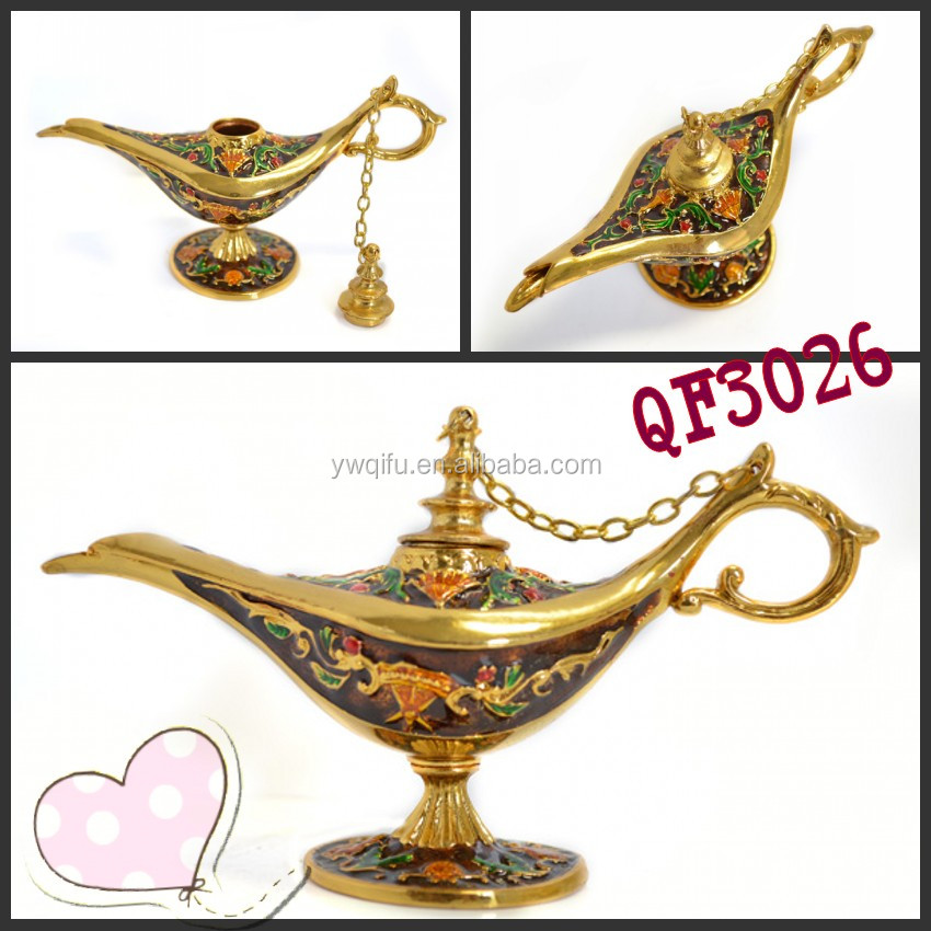 China Brass type colourful aladdin lamp survenir lamp QF3026