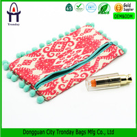 Customized material cosmetic bag the national pattern cosmetic case pouch